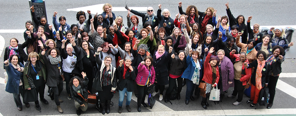 CUPE joined 160 trade unionists from 34 countries at the 60th session of the United Nations Commission on the Status of Women (CSW60) in New York City in March.
