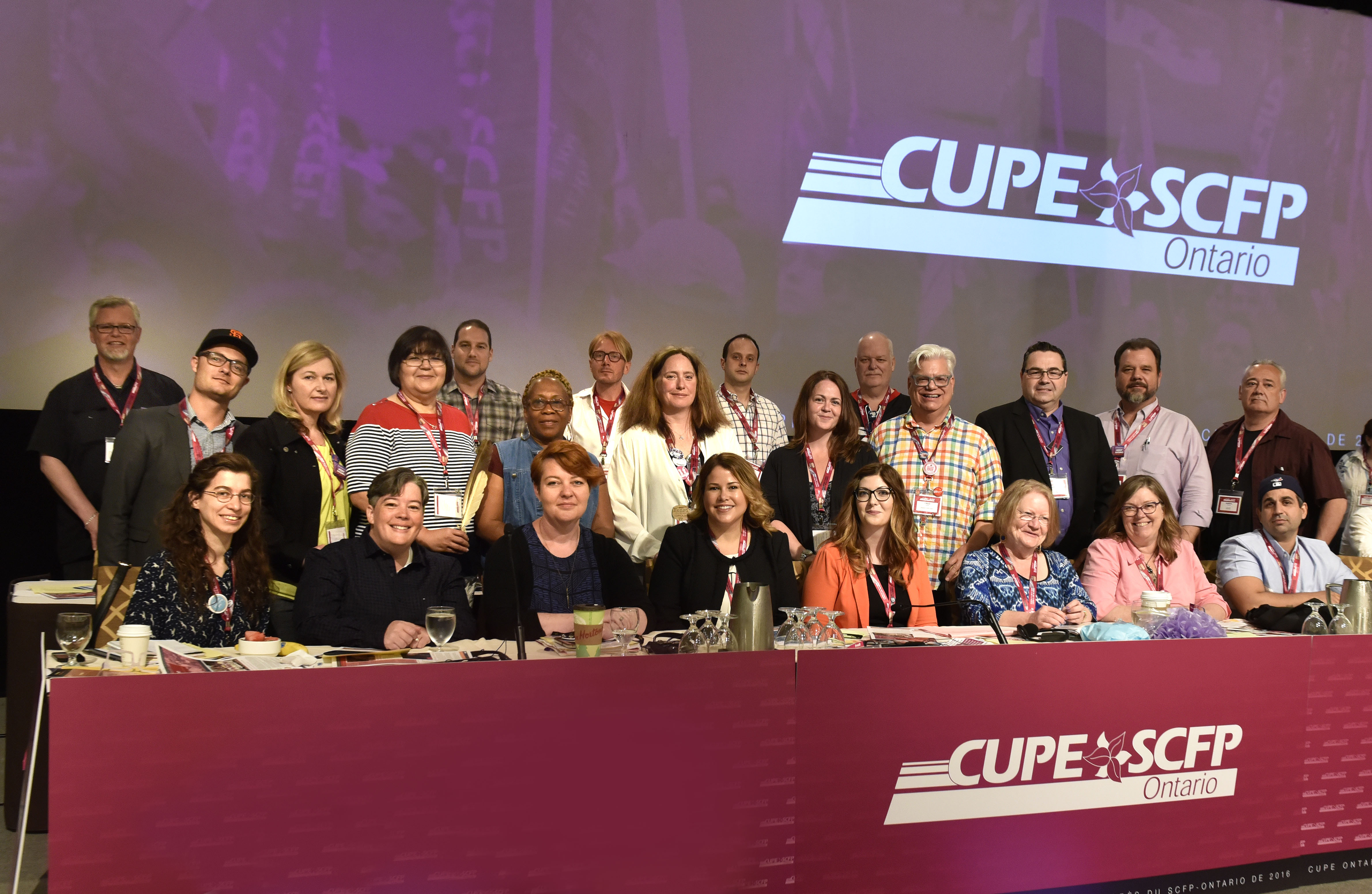 CUPE Ontario executive board group photo