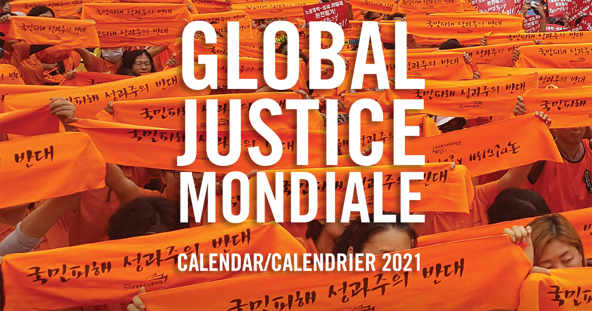 Calendrier Tan 2021 Order your 2021 Global Justice calendar | Canadian Union of Public