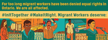 Justice for Migrant Workers banner