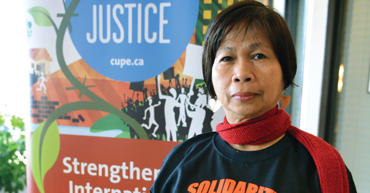 CUPE Global Justice in Action from Colombia to the Philippines