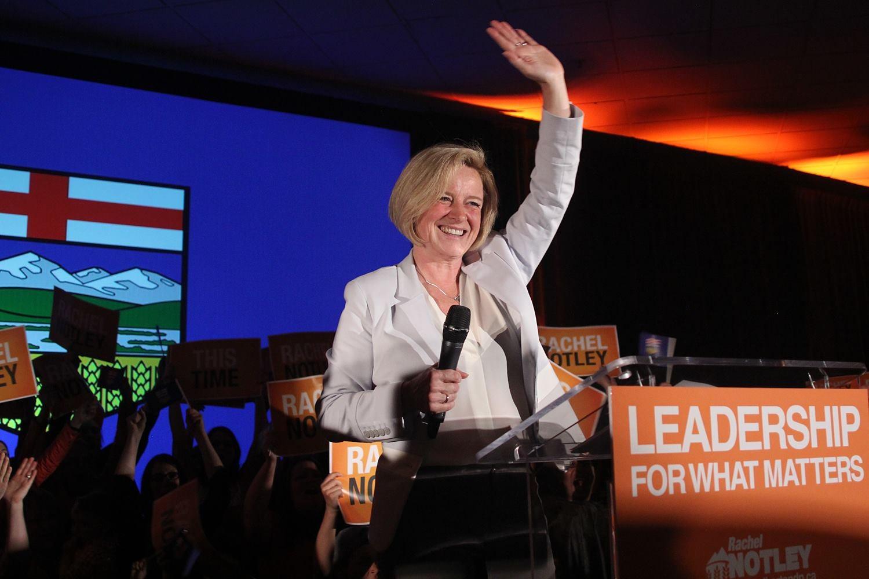 Rachel Notley in Edmonton
