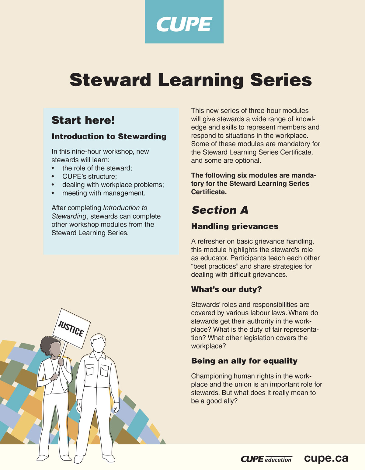 Steward learning series brochure
