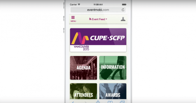 Event app CUPE2015