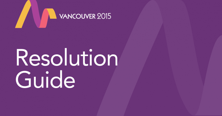 Convention 2015 Resolution Guide banner