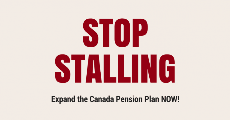 Stop the stalling: expand the CPP NOW