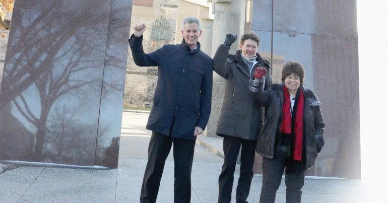 From left to right: Peter Engelmann, Margaret Evans and Nancy Rosenberg