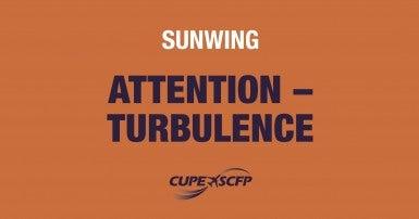 Risk of turbulence at Sunwing