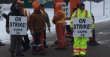 CUPE 32 on strike