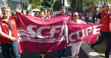 Charles Fleury leads CUPE delegation at the 11th IAMRECON in Mexico City, April 2015
