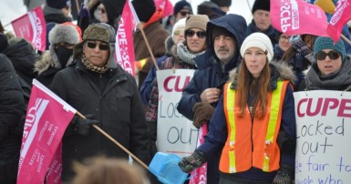 CUPE 2049 picket line