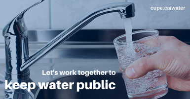 Let's work together to keep water public