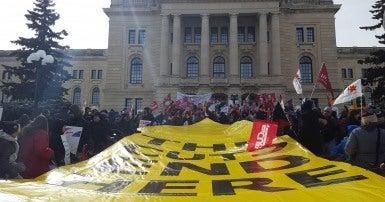 Rally for Saskatchewan March 8 2017, Regina