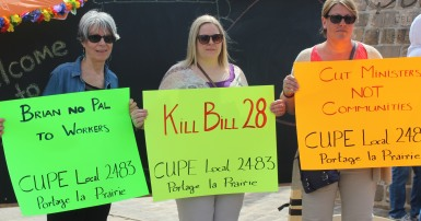 MB CUPE 2483 Protests Bill 28 May 2017