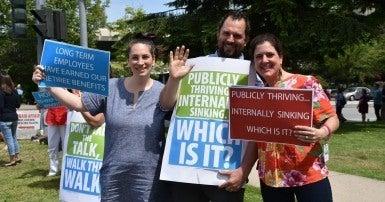 Pacific Blue Cross Protest June 2017