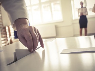 election- ballot box