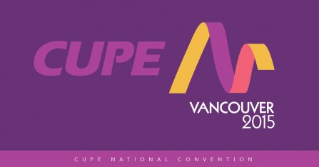 CUPE National Convention 2015 banner