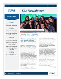 Newsletter templates | Canadian Union of Public Employees